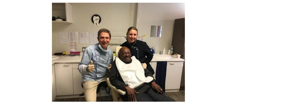Special Guest Archbishop Desmond Tutu Visiting Dr Fauel in Hermanus