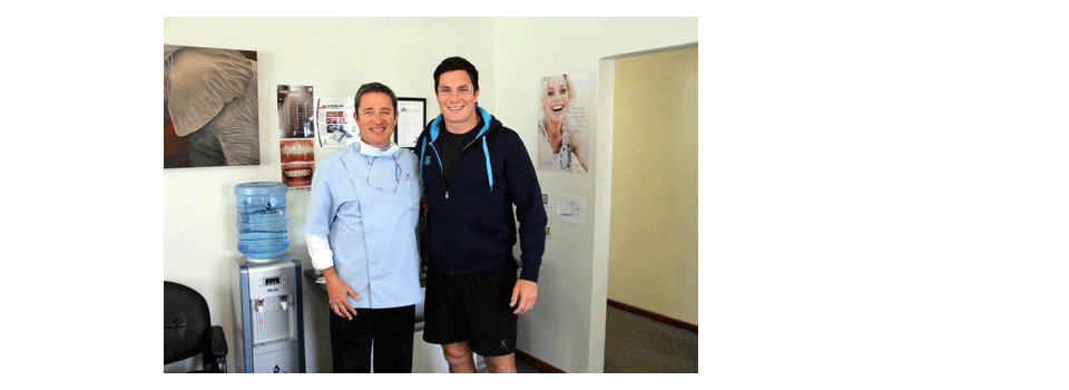 Special Guest Springbok Francois Louw Visiting Dr Fauel in Hermanus